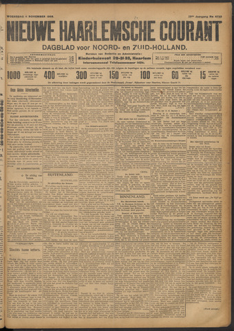 Nieuwe Haarlemsche Courant 1908-11-11