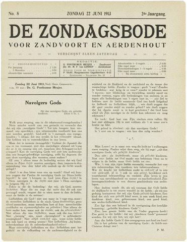 De Zondagsbode voor Zandvoort en Aerdenhout 1913-06-22