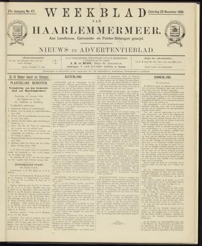 Weekblad van Haarlemmermeer 1886-11-20