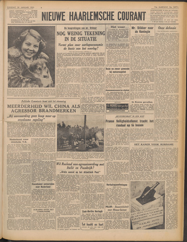 Nieuwe Haarlemsche Courant 1951-01-30
