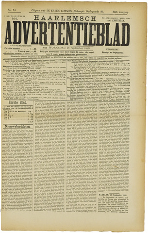 Haarlemsch Advertentieblad 1889-09-18