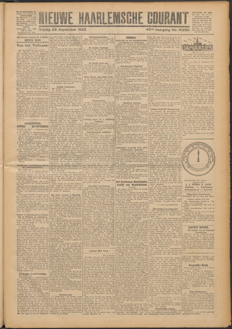 Nieuwe Haarlemsche Courant 1922-09-29