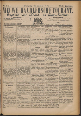 Nieuwe Haarlemsche Courant 1905-10-25