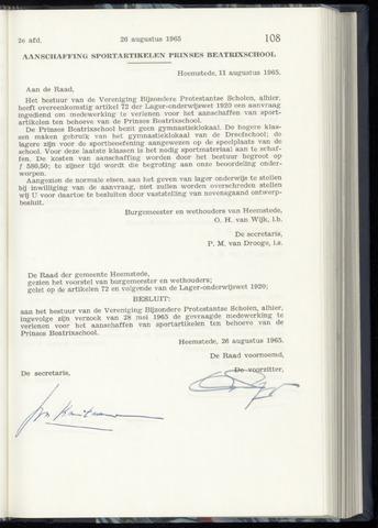 Raadsnotulen Heemstede 1965-08-26