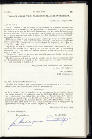 Raadsnotulen Heemstede 1966-04-28