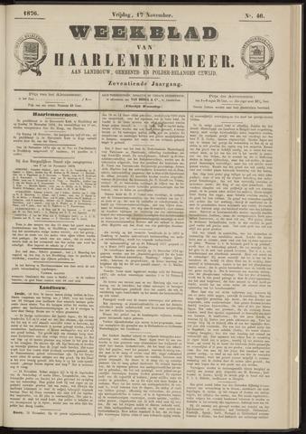 Weekblad van Haarlemmermeer 1876-11-17