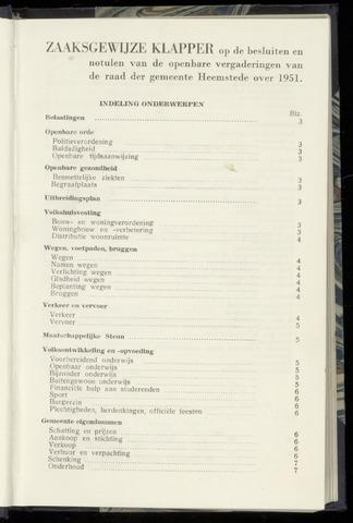 Raadsnotulen Heemstede 1951-01-01
