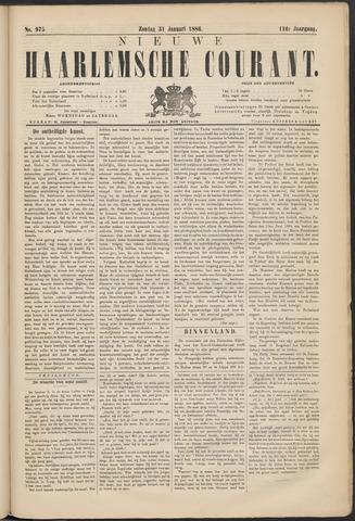 Nieuwe Haarlemsche Courant 1886-01-31