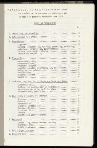 Raadsnotulen Heemstede 1974-01-01