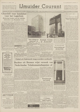 IJmuider Courant 1959-04-21