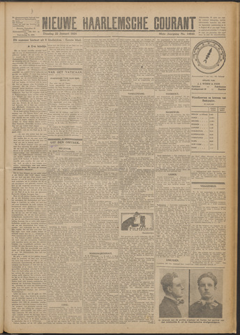 Nieuwe Haarlemsche Courant 1924-01-22