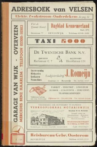 Adresboeken Velsen 1959