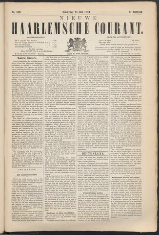 Nieuwe Haarlemsche Courant 1884-07-24