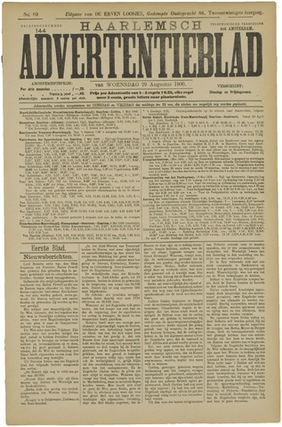 Haarlemsch Advertentieblad 1900-08-29