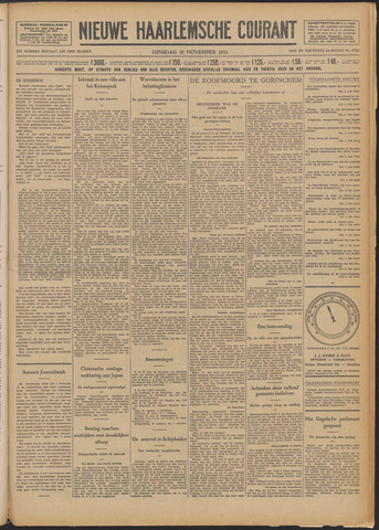 Nieuwe Haarlemsche Courant 1931-11-10