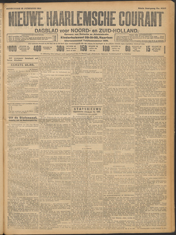 Nieuwe Haarlemsche Courant 1914-02-19