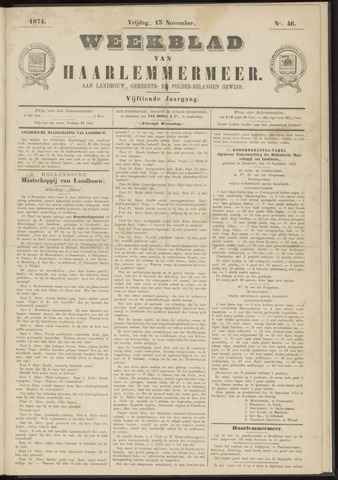 Weekblad van Haarlemmermeer 1874-11-13