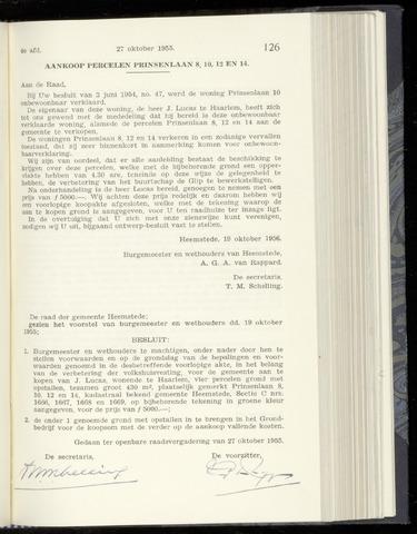 Raadsnotulen Heemstede 1955-10-27
