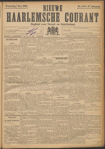 Nieuwe Haarlemsche Courant 1906-11-07