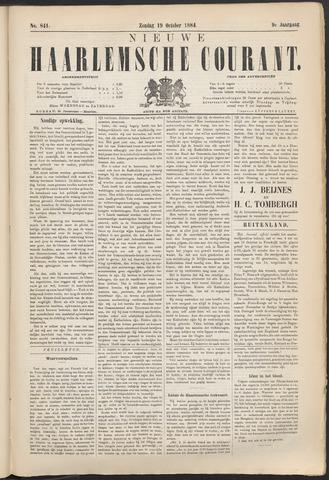 Nieuwe Haarlemsche Courant 1884-10-19