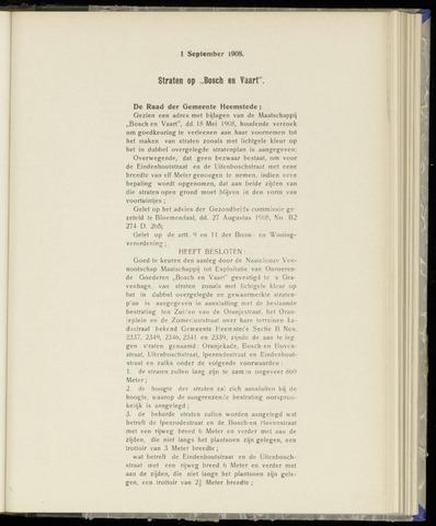 Raadsnotulen Heemstede 1908-09-01