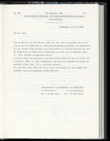Raadsnotulen Heemstede 1980-08-28