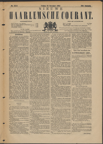 Nieuwe Haarlemsche Courant 1894-11-23