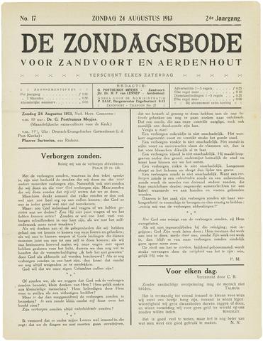De Zondagsbode voor Zandvoort en Aerdenhout 1913-08-24