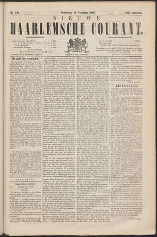 Nieuwe Haarlemsche Courant 1885-11-19