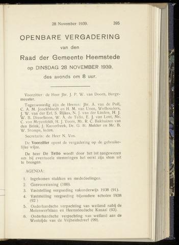 Raadsnotulen Heemstede 1939-11-28