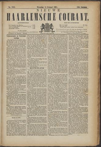 Nieuwe Haarlemsche Courant 1891-02-18