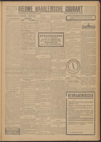 Nieuwe Haarlemsche Courant 1923-12-27