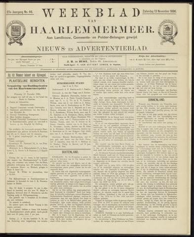 Weekblad van Haarlemmermeer 1886-11-13