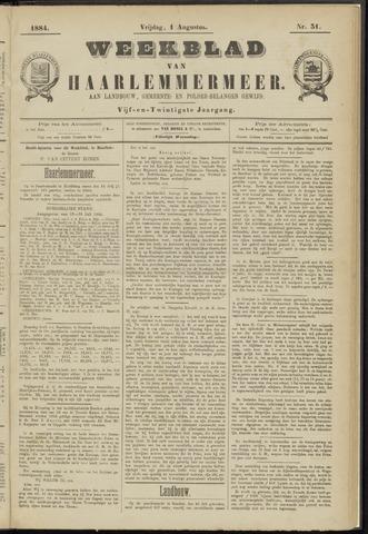 Weekblad van Haarlemmermeer 1884-08-01
