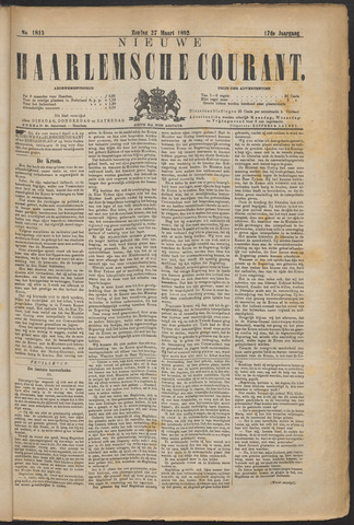 Nieuwe Haarlemsche Courant 1892-03-27
