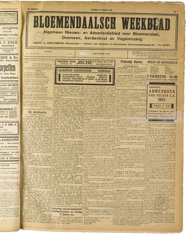 Het Bloemendaalsch Weekblad 1925