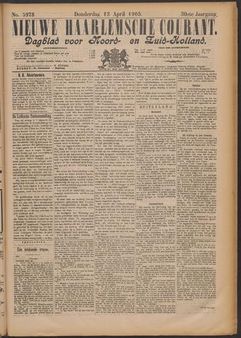 Nieuwe Haarlemsche Courant 1905-04-13