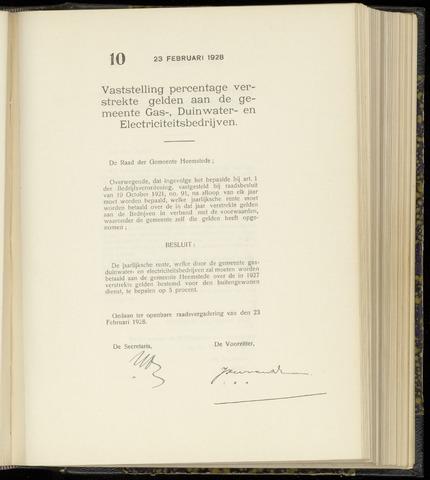 Raadsnotulen Heemstede 1928-02-23