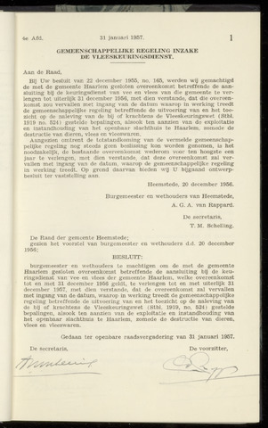 Raadsnotulen Heemstede 1957-01-31