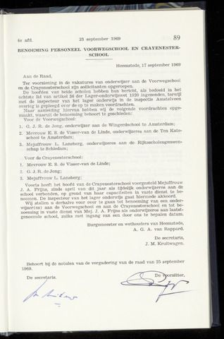 Raadsnotulen Heemstede 1969-09-25