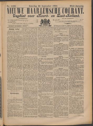 Nieuwe Haarlemsche Courant 1903-09-26