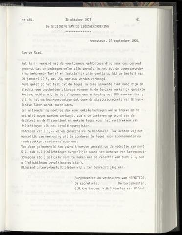 Raadsnotulen Heemstede 1975-10-30