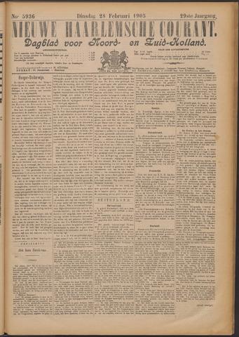 Nieuwe Haarlemsche Courant 1905-02-28