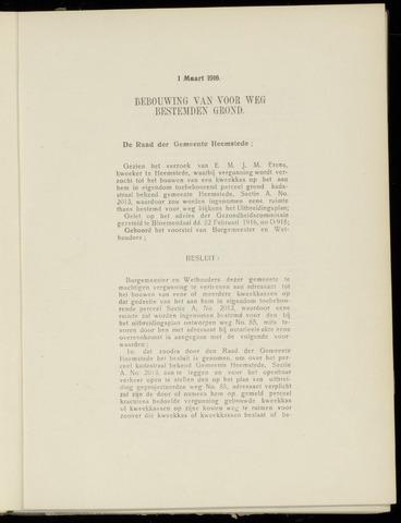 Raadsnotulen Heemstede 1916-03-01