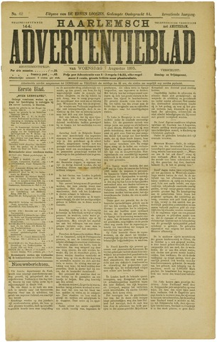 Haarlemsch Advertentieblad 1895-08-07