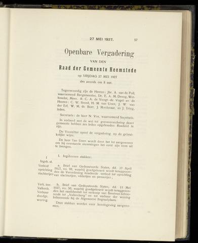 Raadsnotulen Heemstede 1927-05-27