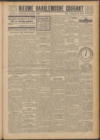 Nieuwe Haarlemsche Courant 1922-08-03