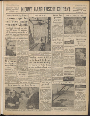 Nieuwe Haarlemsche Courant 1957-10-01