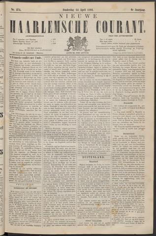 Nieuwe Haarlemsche Courant 1881-04-14