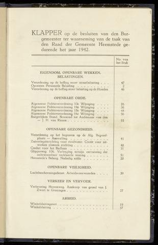 Raadsnotulen Heemstede 1942-01-01
